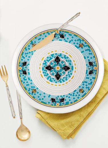 The Mia Patio Servis Tabağı - 30 cm Renkli